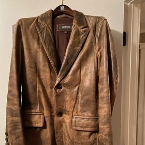 Kenneth Cole leather blazer.